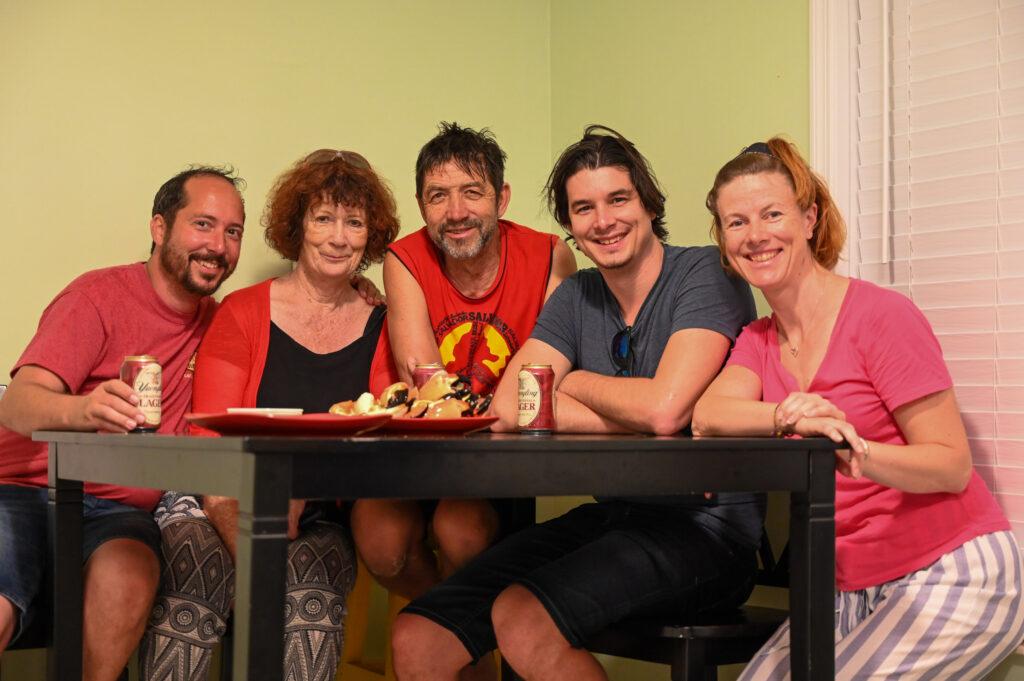 Familie im Key Largo